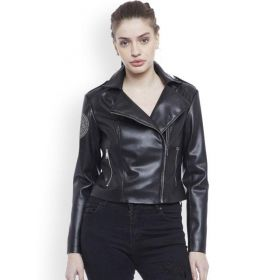 Justanned Women Black Jacket