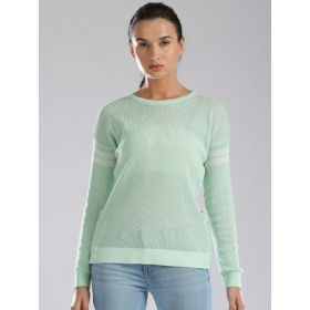 Levis Women Sea Green Pullover