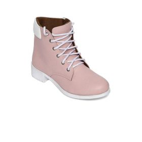 Marc Loire Pink Women Solid Heeled Boots