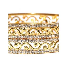 Sukkhi Gold-Plated Stone-Studded  Set of 2 Bangles