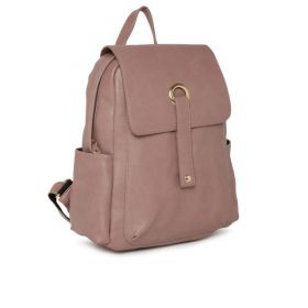 DressBerry Women Solid Pink Backpack