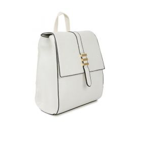 Mast & Harbour Women Solid Off-White Backpack