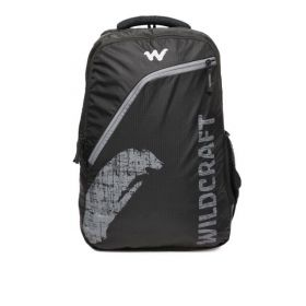 Wildcraft Men Brand Black Logo Backpack