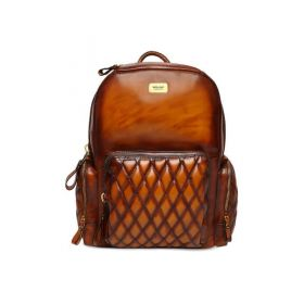 BRUNE Men Solid Tan Backpack