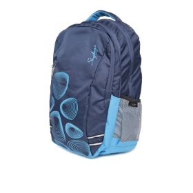 Skybags Unisex Printed Footloose Blue Laptop Backpack