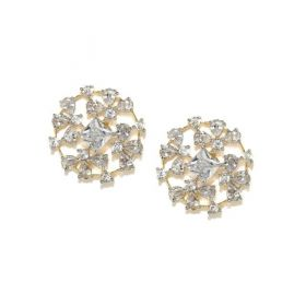 Amavi Destination Wedding Stone-Studded Contemporary Gold-Toned  Studs