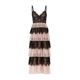 Marchesa Notte Blush Tiered Add to Hearts Tulle Dres