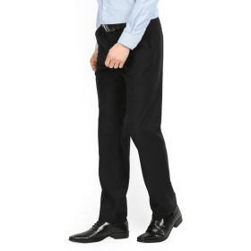 Peter England Fit Men's Black Trousers