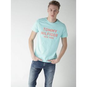 Tommy Hilfiger Men Blue Round Neck T-shirt