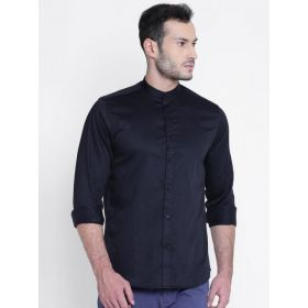 Blackberrys Men Black Slim Fit Solid Shirt
