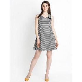 Annabelle by Pantaloons Women Striped Fit and Flare Dress