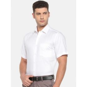 Van Heusen Men White Regular Fit Formal Shirt