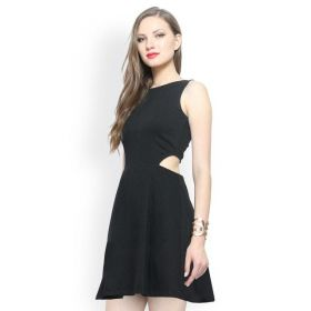 FabAlley Black Skater Dress